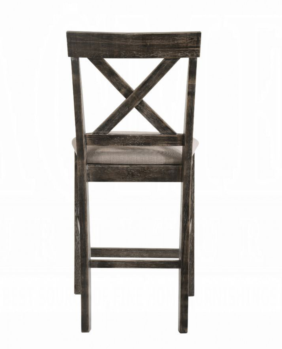 Weathered Gray Counter Height Chair Back