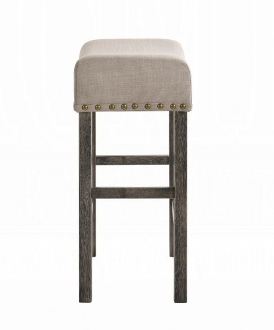 Weathered Gray Counter Height Stool Side