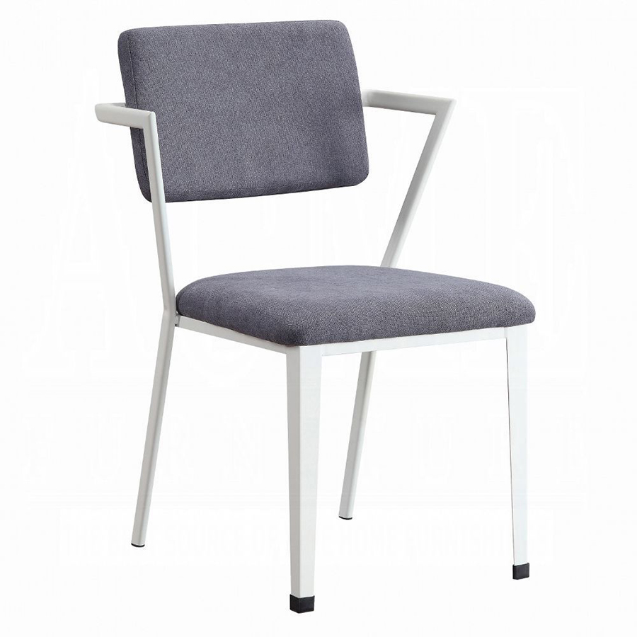 White Arm Chair Angle