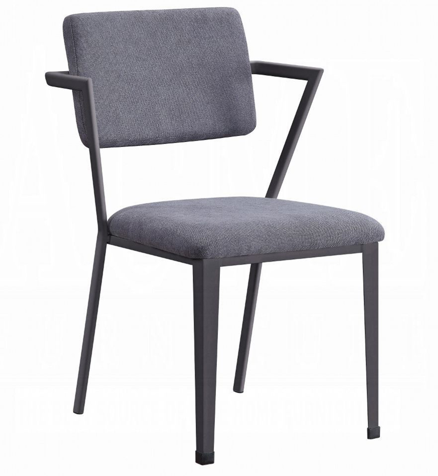 Gunmetal Arm Chair Angle