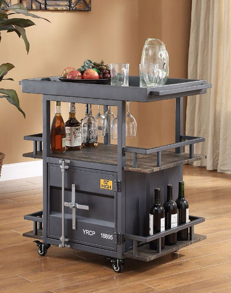 Gunmetal Serving Cart