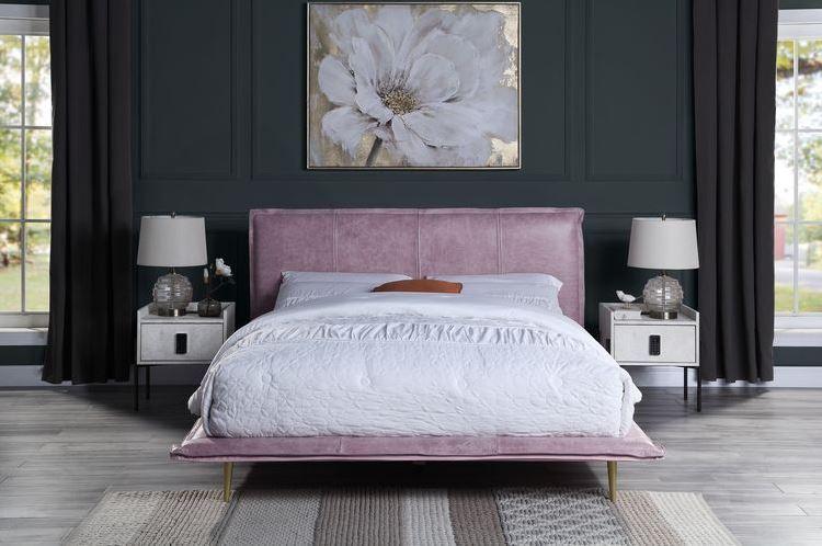 Pink Bed w/ Nightstands
