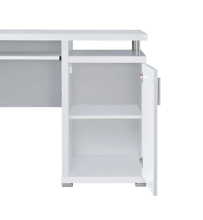 Office Desk Storage from Different Angle