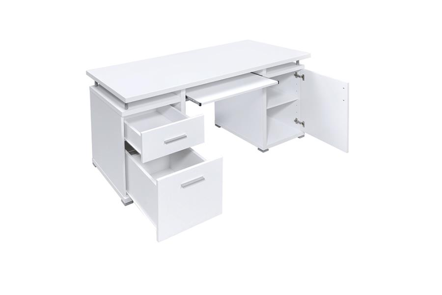 Office Desk Storage Drawers Opened
