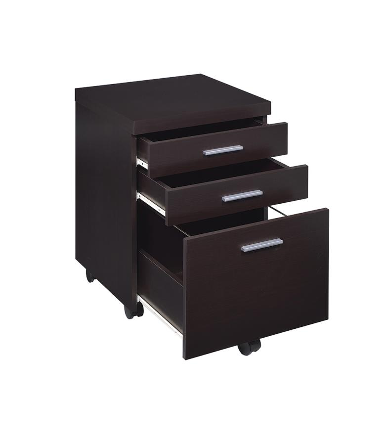 Mobile File Cabinet Drawers Opened