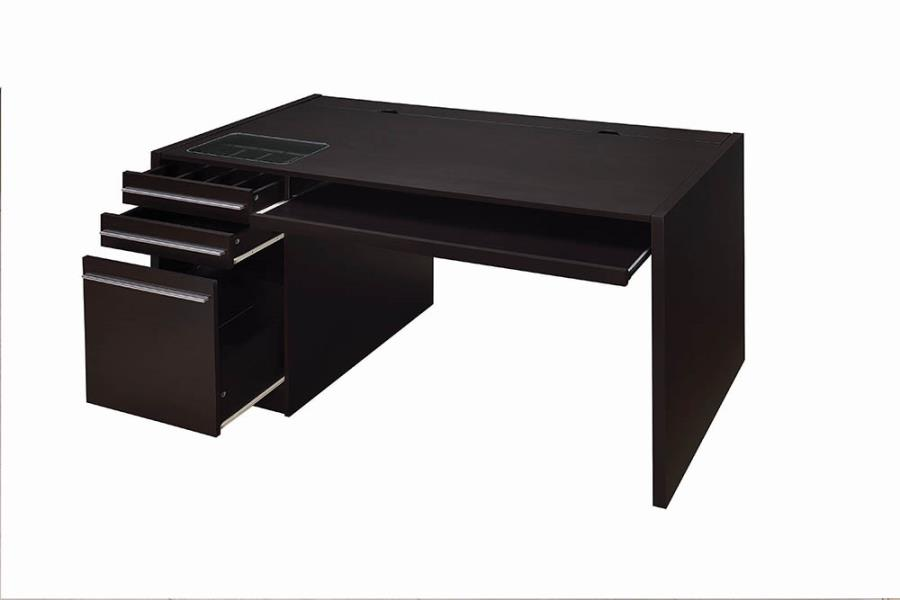 Connect-It Office Desk Drawers Opened