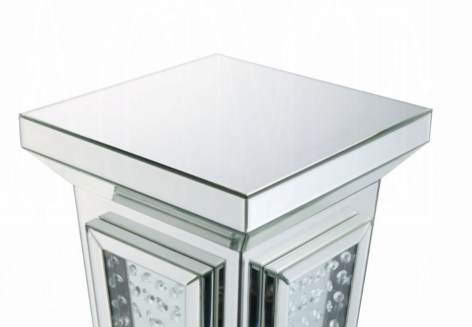 Pedestal Stand Mirrored Table top