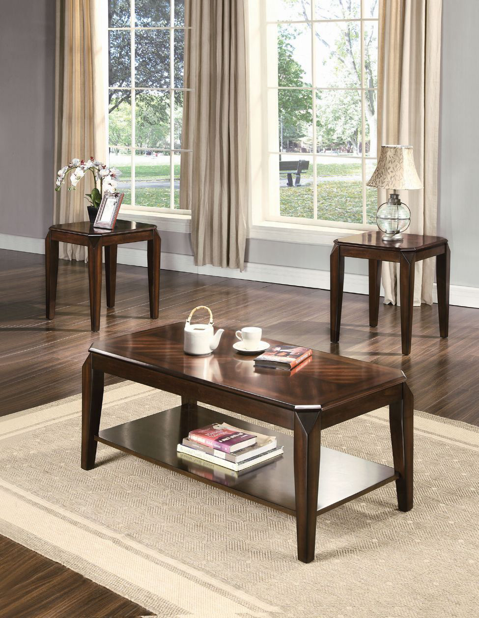 Complete 3 Piece Coffee Table Set