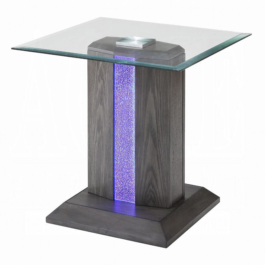 End Table w/ LED Inlay On