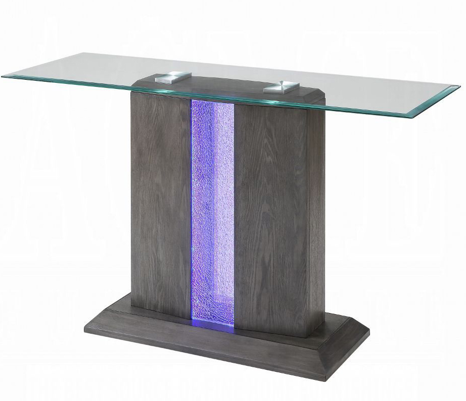 Sofa Table w/ LED Inlay On