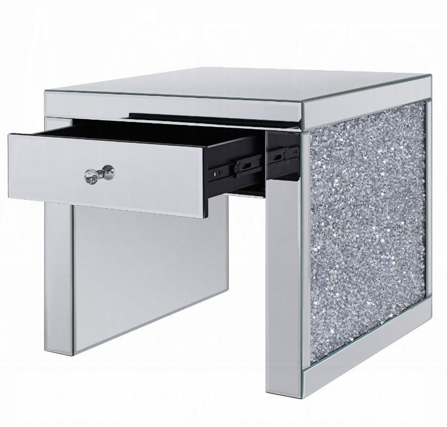 End Table Angle w/ Storage Drawer Opened
