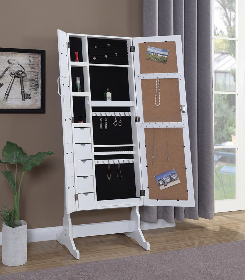 Split Doors with Jewelry Armoire Inside