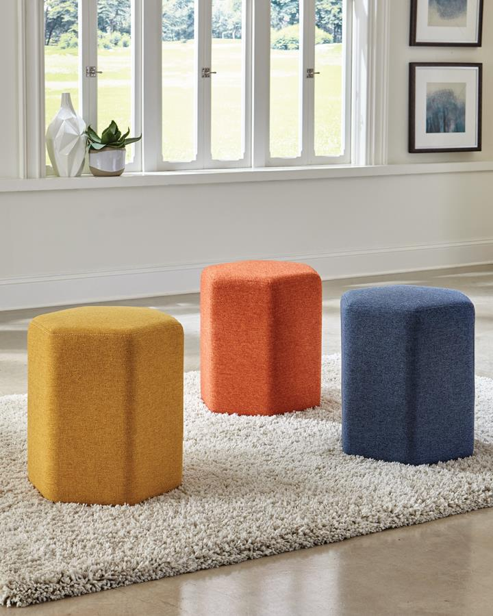 Yellow, Orange, and Blue Ottoman