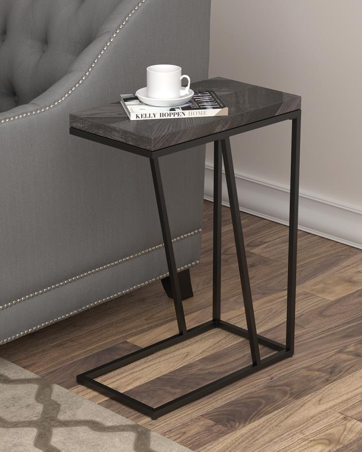 Rustic Grey Accent Table