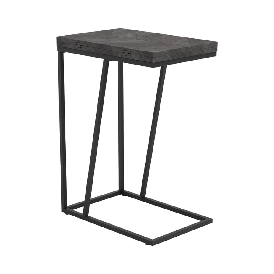 Grey Accent Table Angle