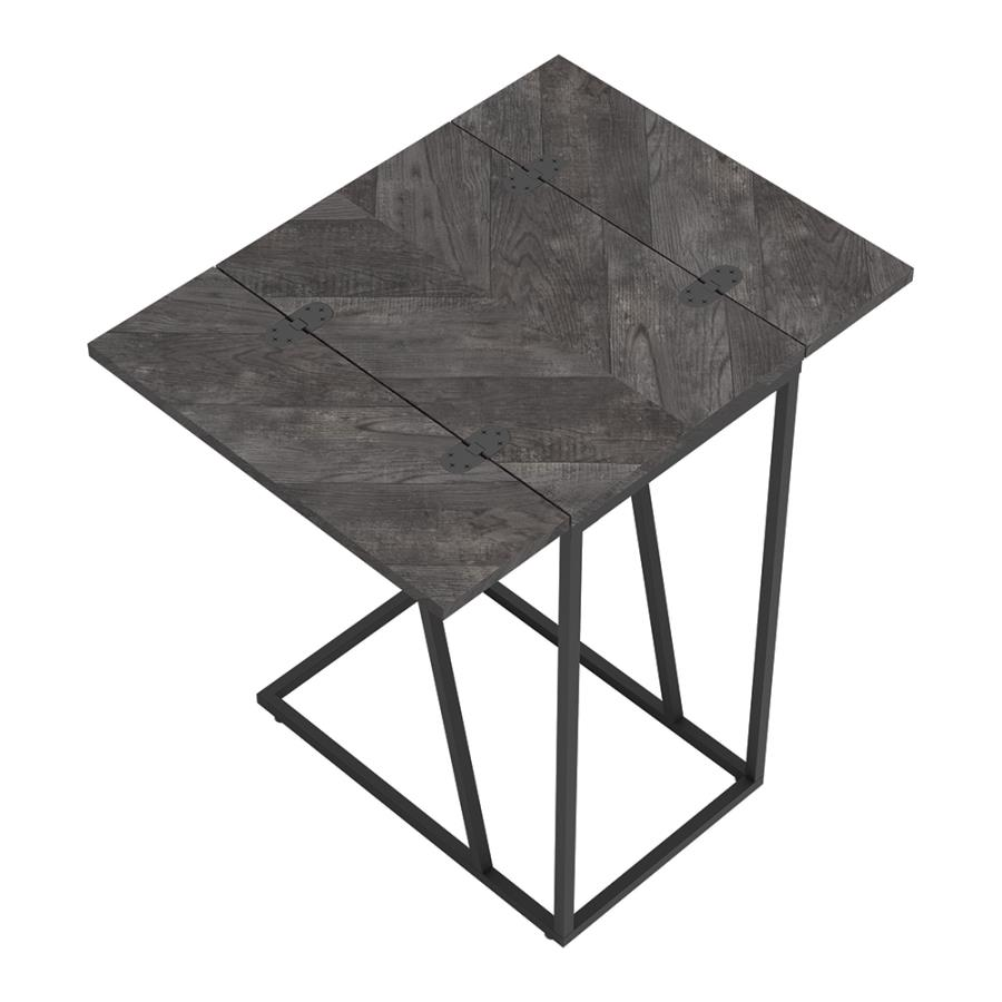 Grey Accent Table Top w/ Unfolded Flaps