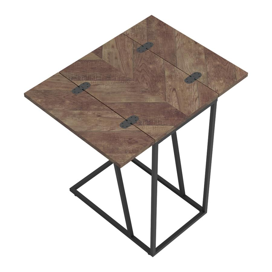 Tobacco Accent Table Top w/ Unfolded Flaps
