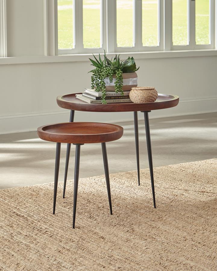 Circular Top End Table Set