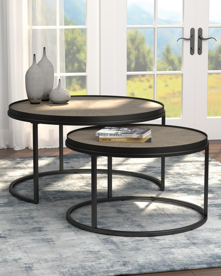 Two Piece End Table Set
