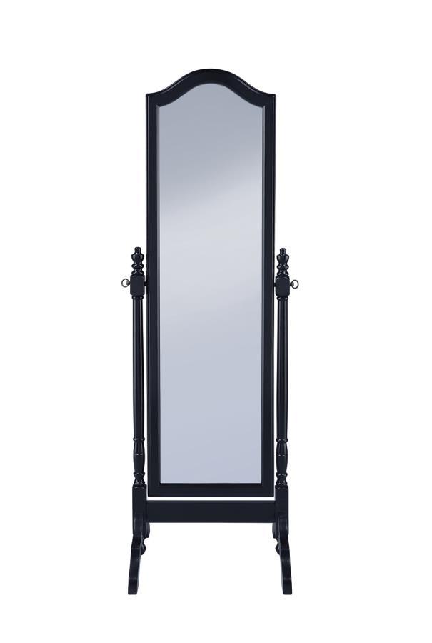 Black Cheval Mirror Front