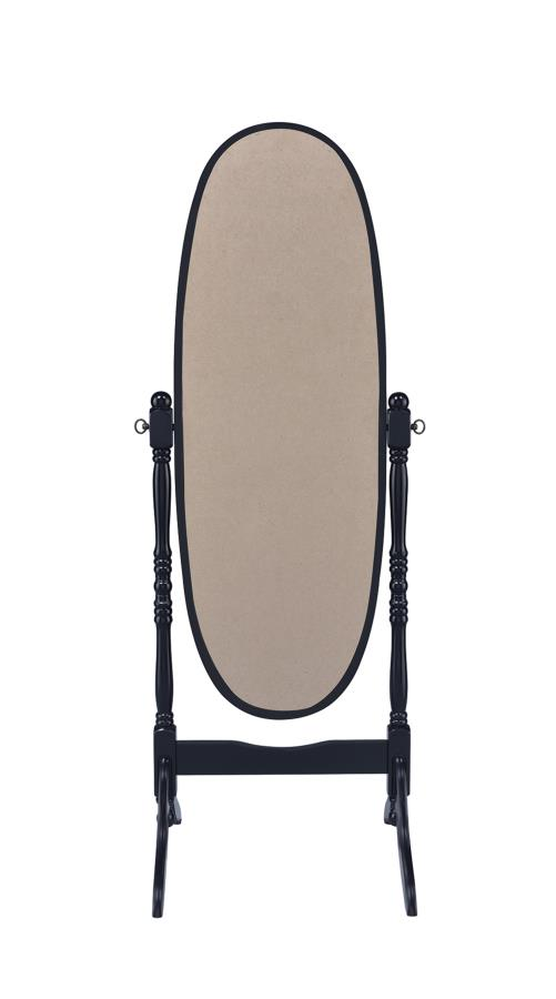 Black Cheval Standing Mirror Back