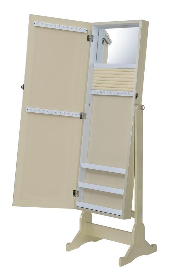 Jewelry Armoire Inside Mirror Angle