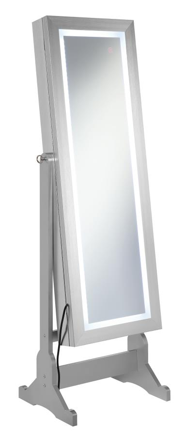 Jewelry Cheval Mirror Angle w/ LED Light Turned On
