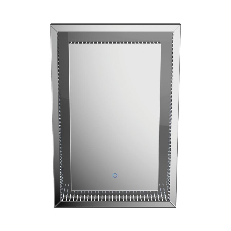 Wall Mirror Front w/ LED Light On