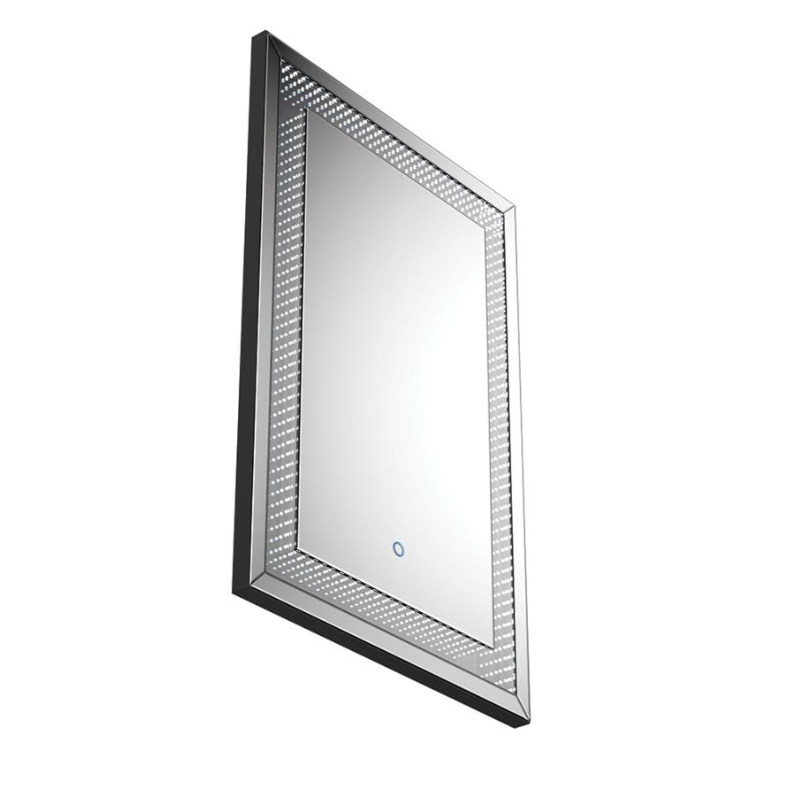 Wall Mirror Angle w/ LED Light On