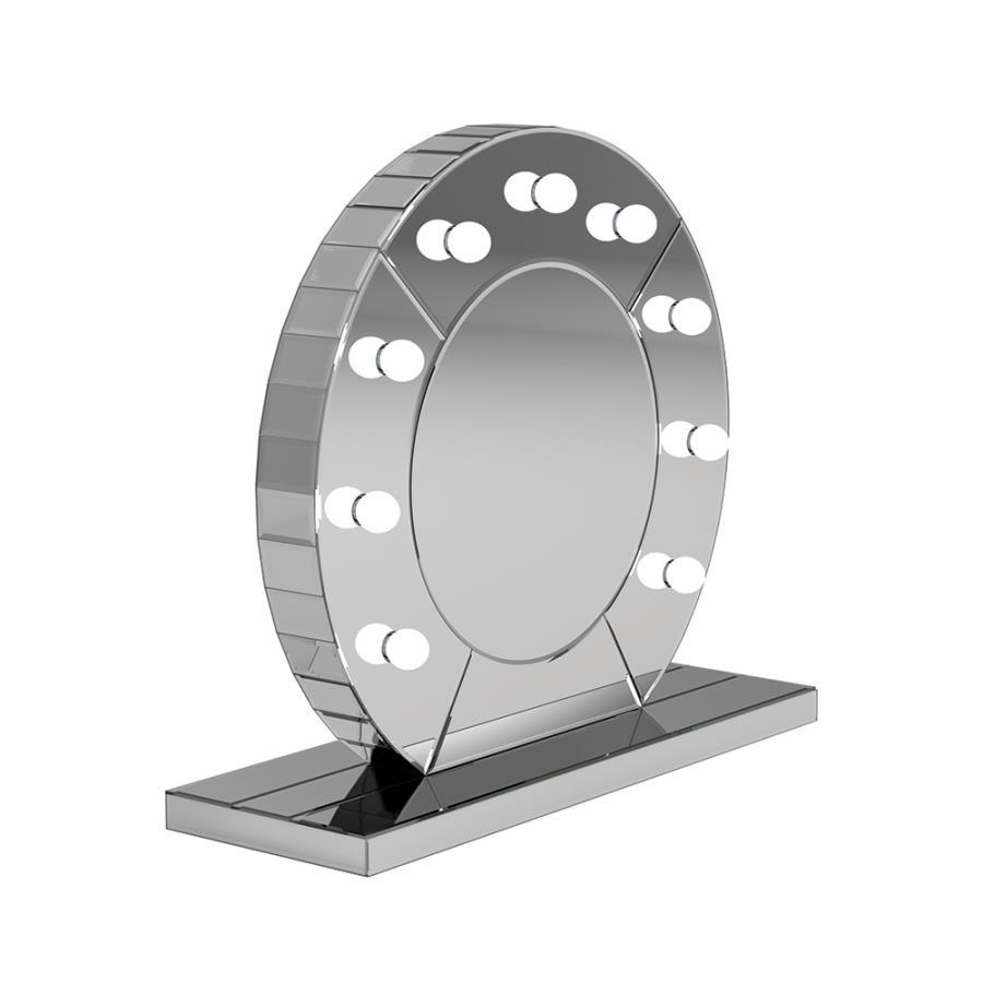 Table Mirror Angle w/ Bulbs On