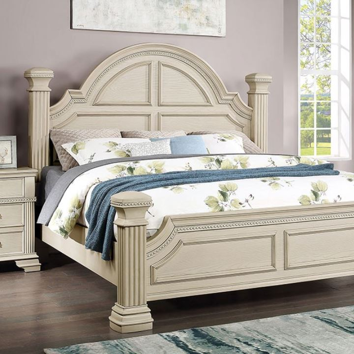 Antique White Bed