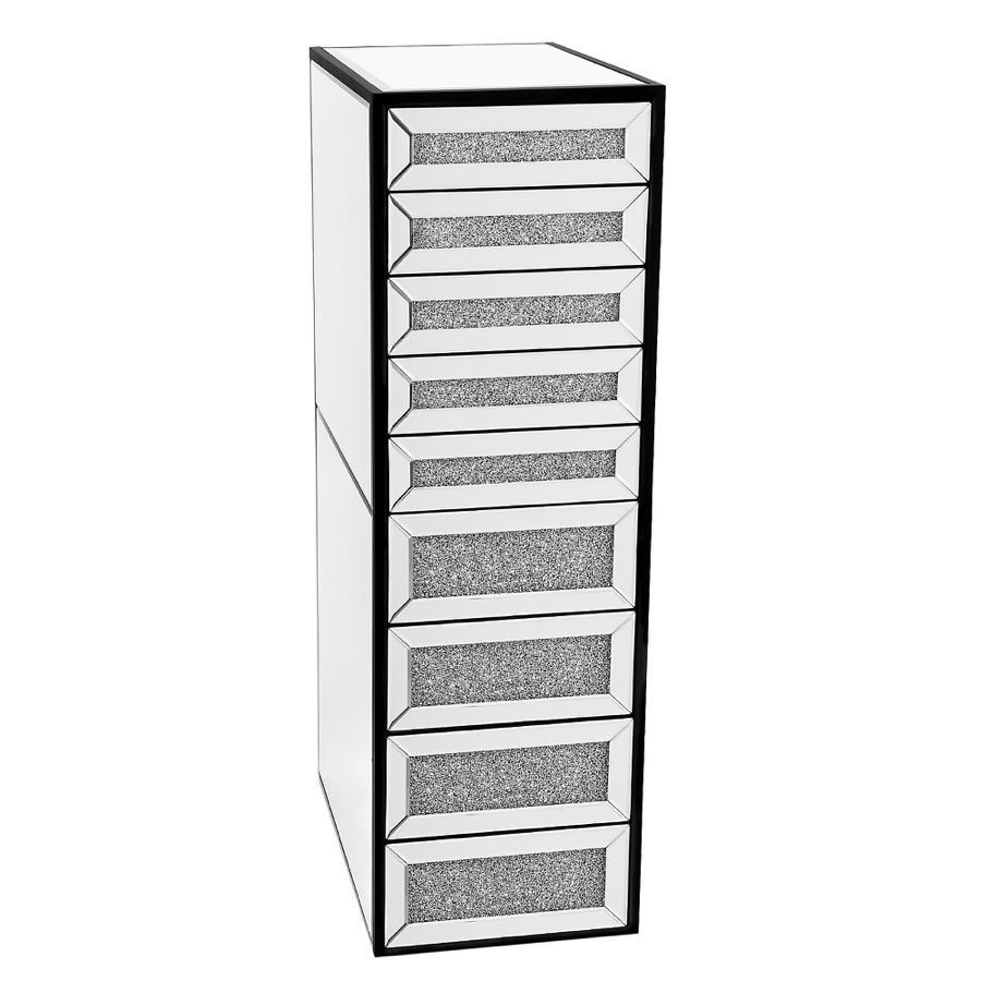Black 9-Drawer Vanity Storage Unit
