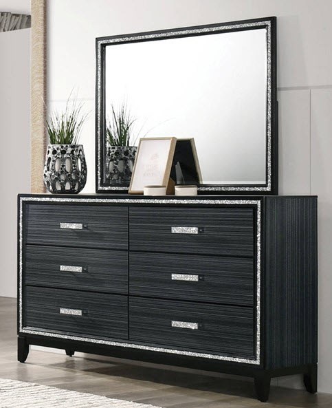 Gray Dresser w/ Mirror