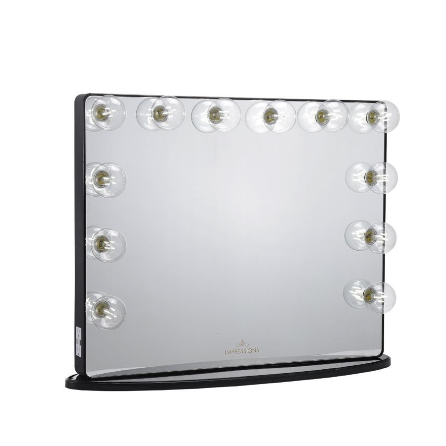 Black Hollywood Glow® Plus 2.0 Vanity Mirror