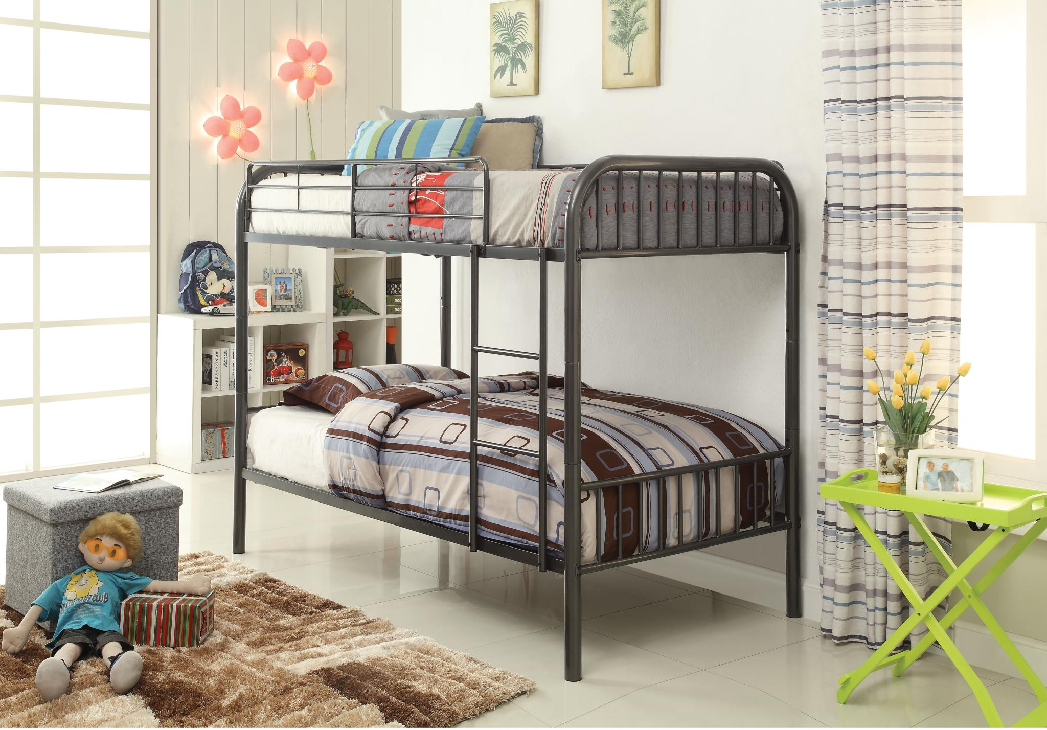 Gun Metal Twin/Twin Bunk Bed