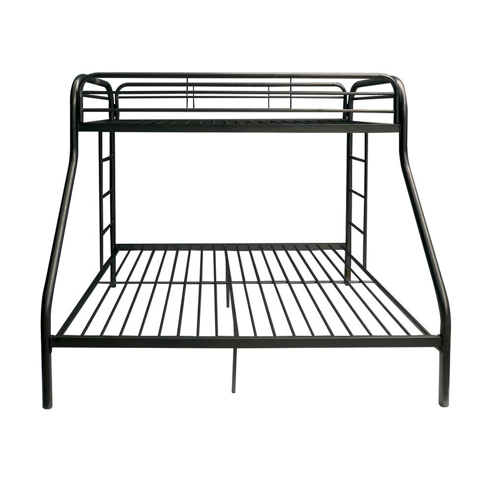 Black Twin XL/Queen Bunk Bed Front