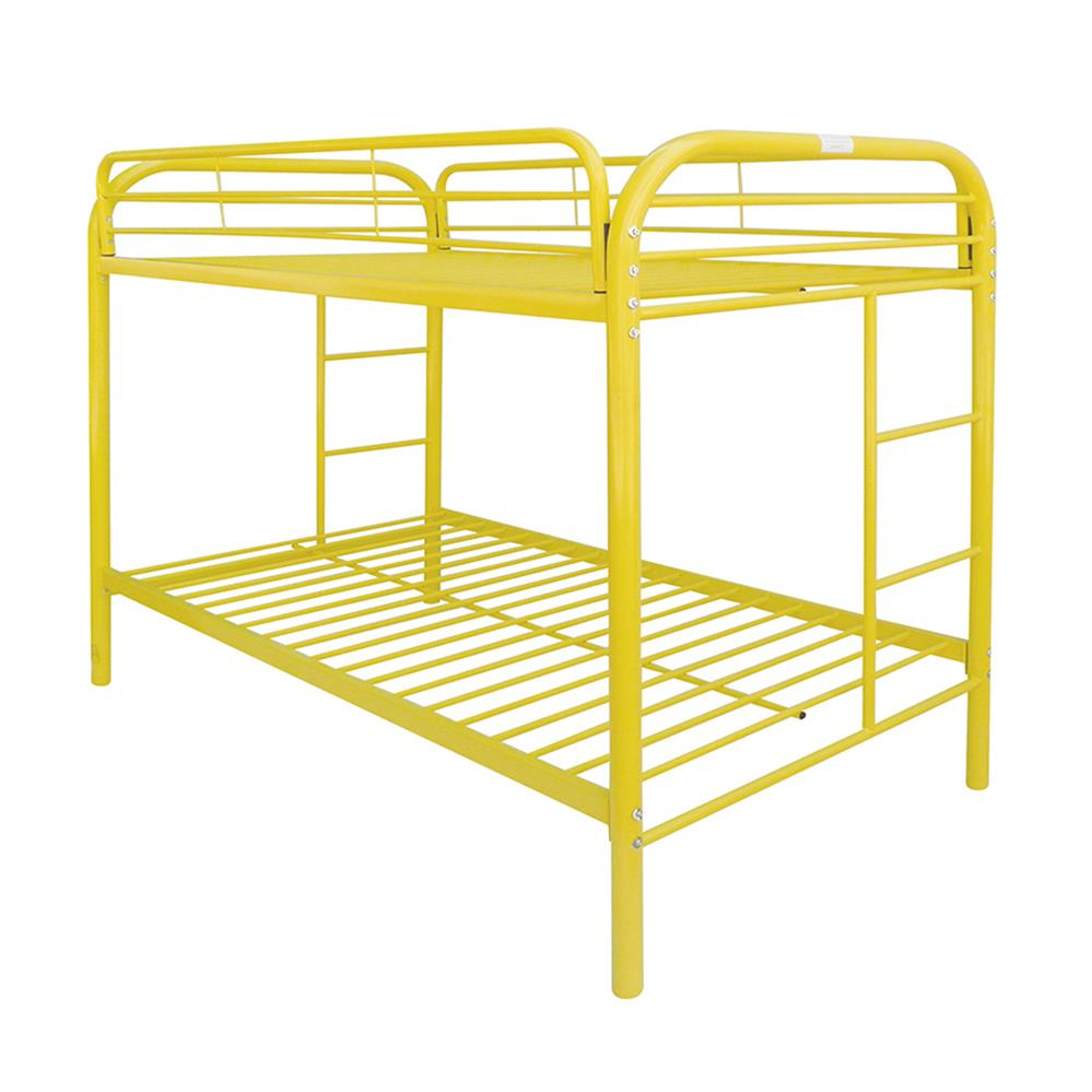 Yellow Twin/Twin Bunk Bed Angle