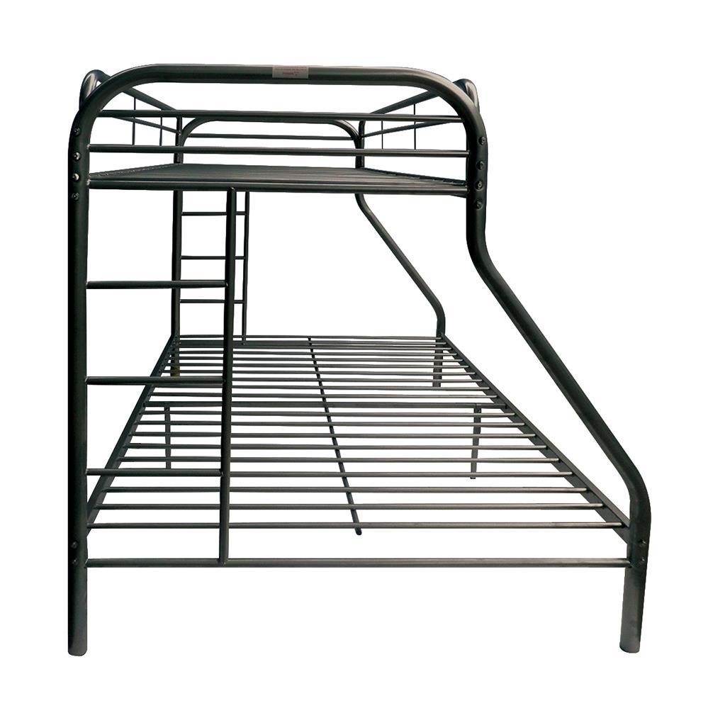 Black Twin XL/Queen Bunk Bed Side