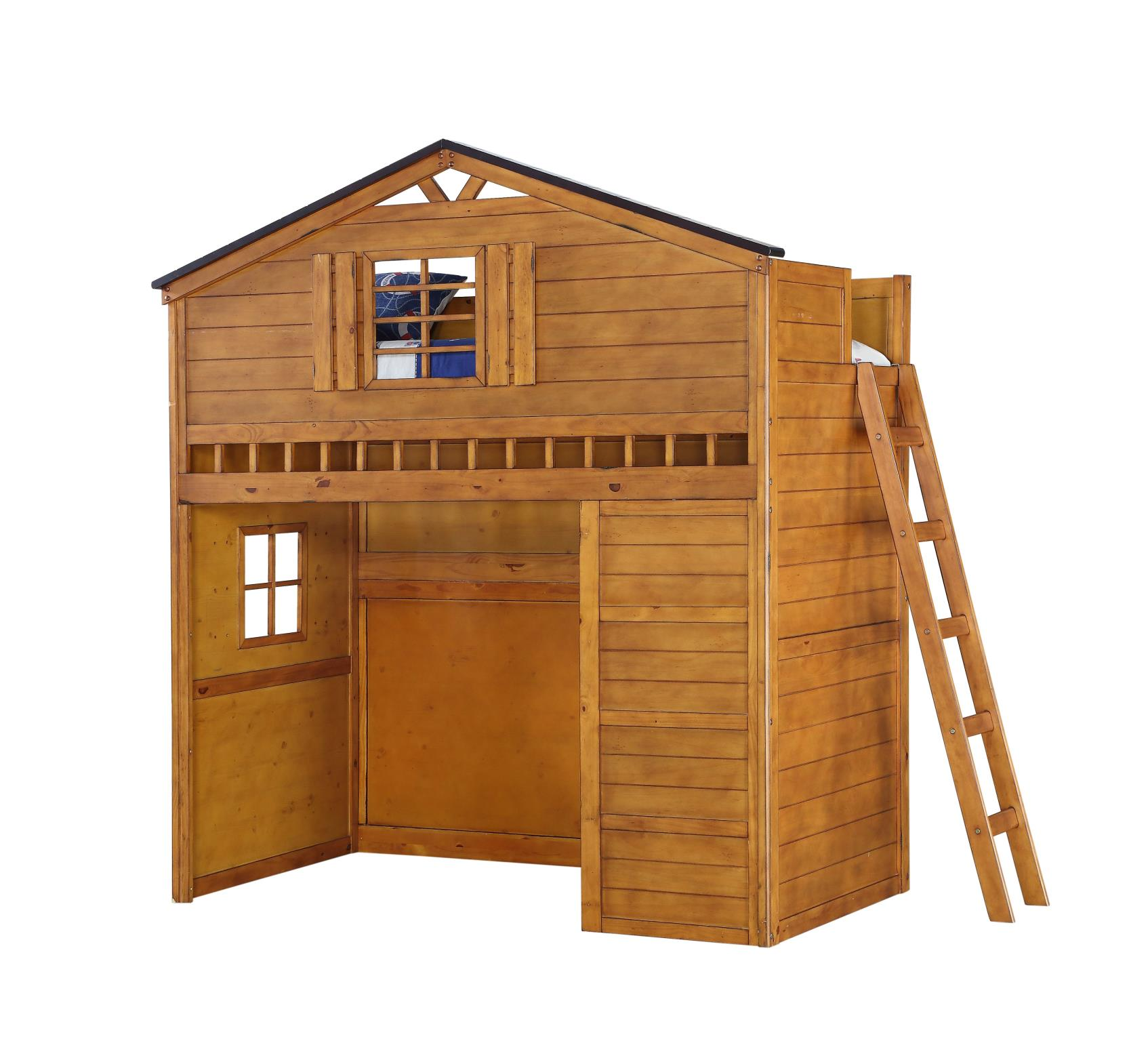 Treehouse Loft Bunk Bed Angle