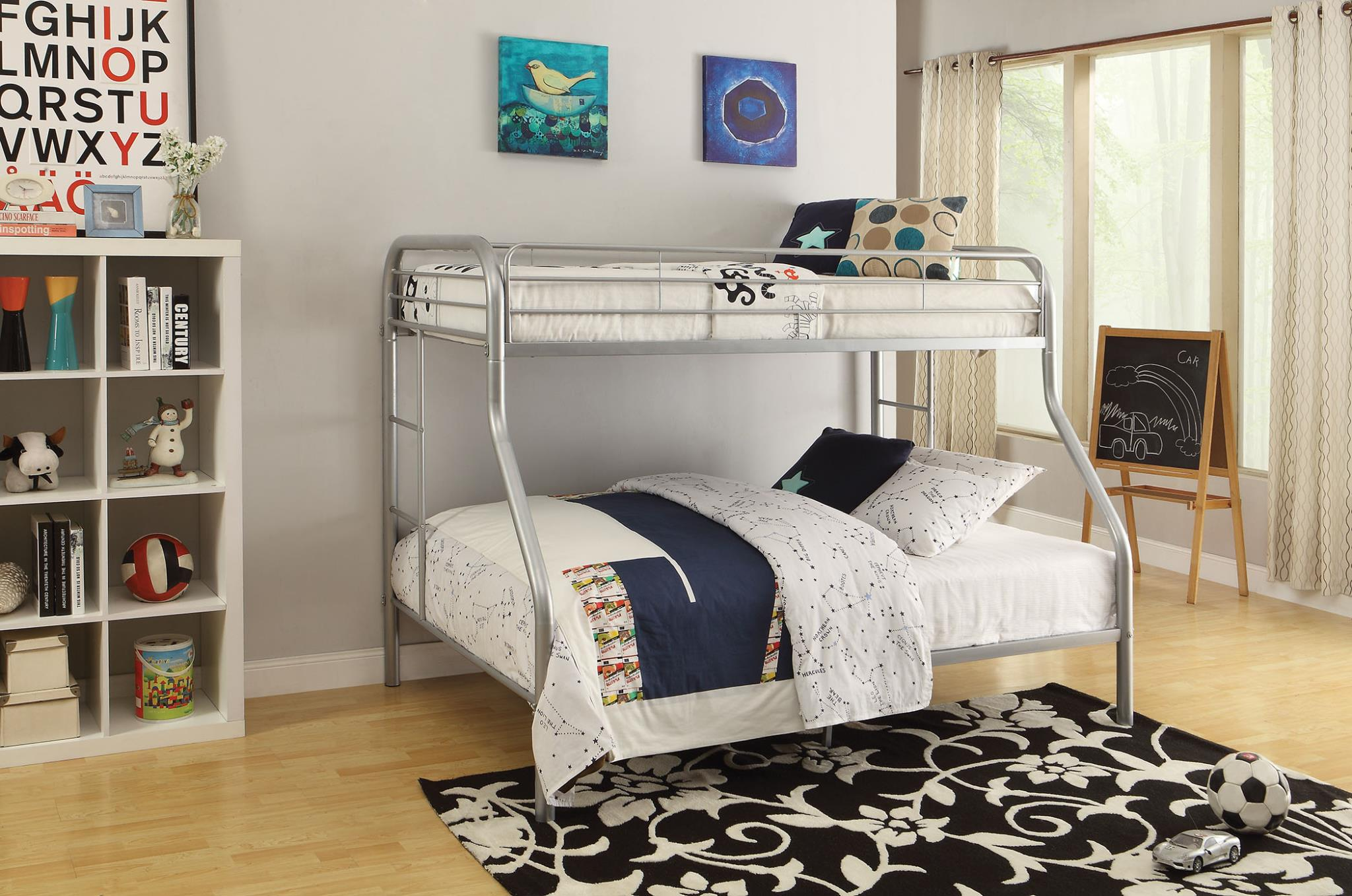 Silver Twin XL/Queen Bunk Bed