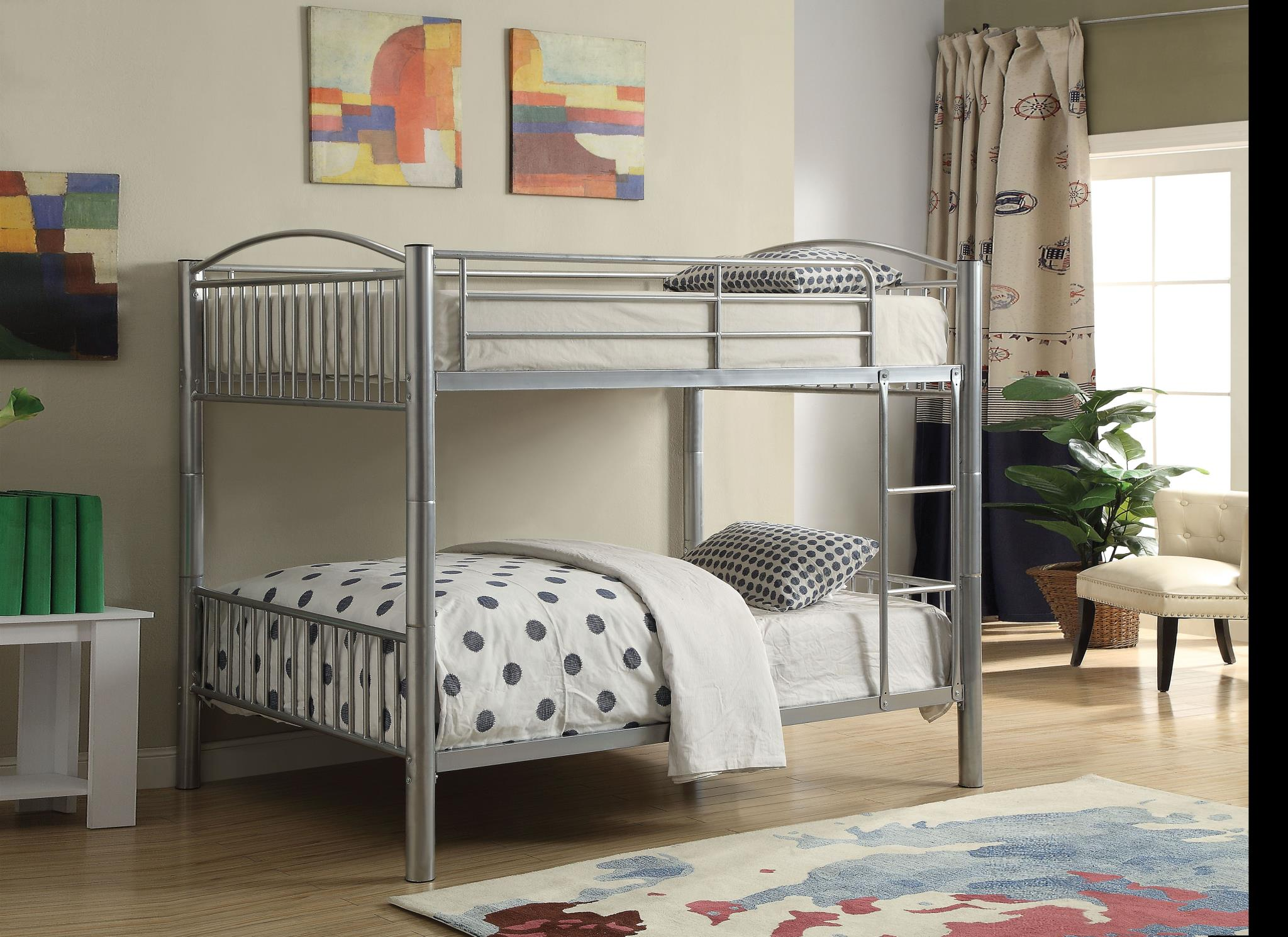 Silver Full/Full Bunk Bed