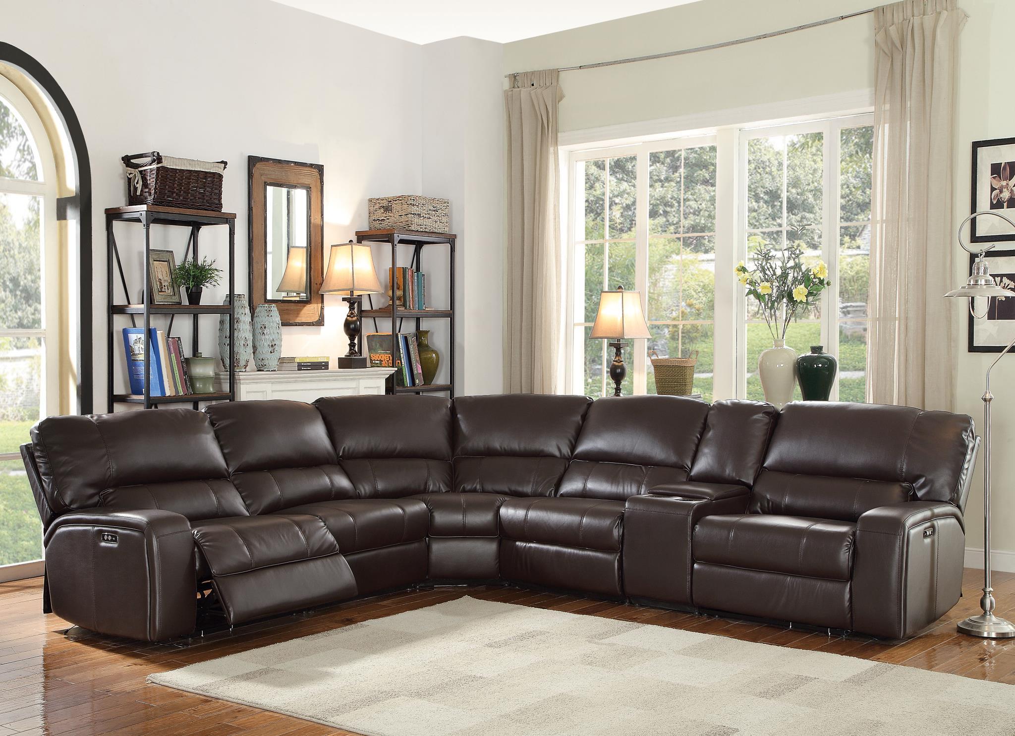 Espresso Complete Sectional Sofa
