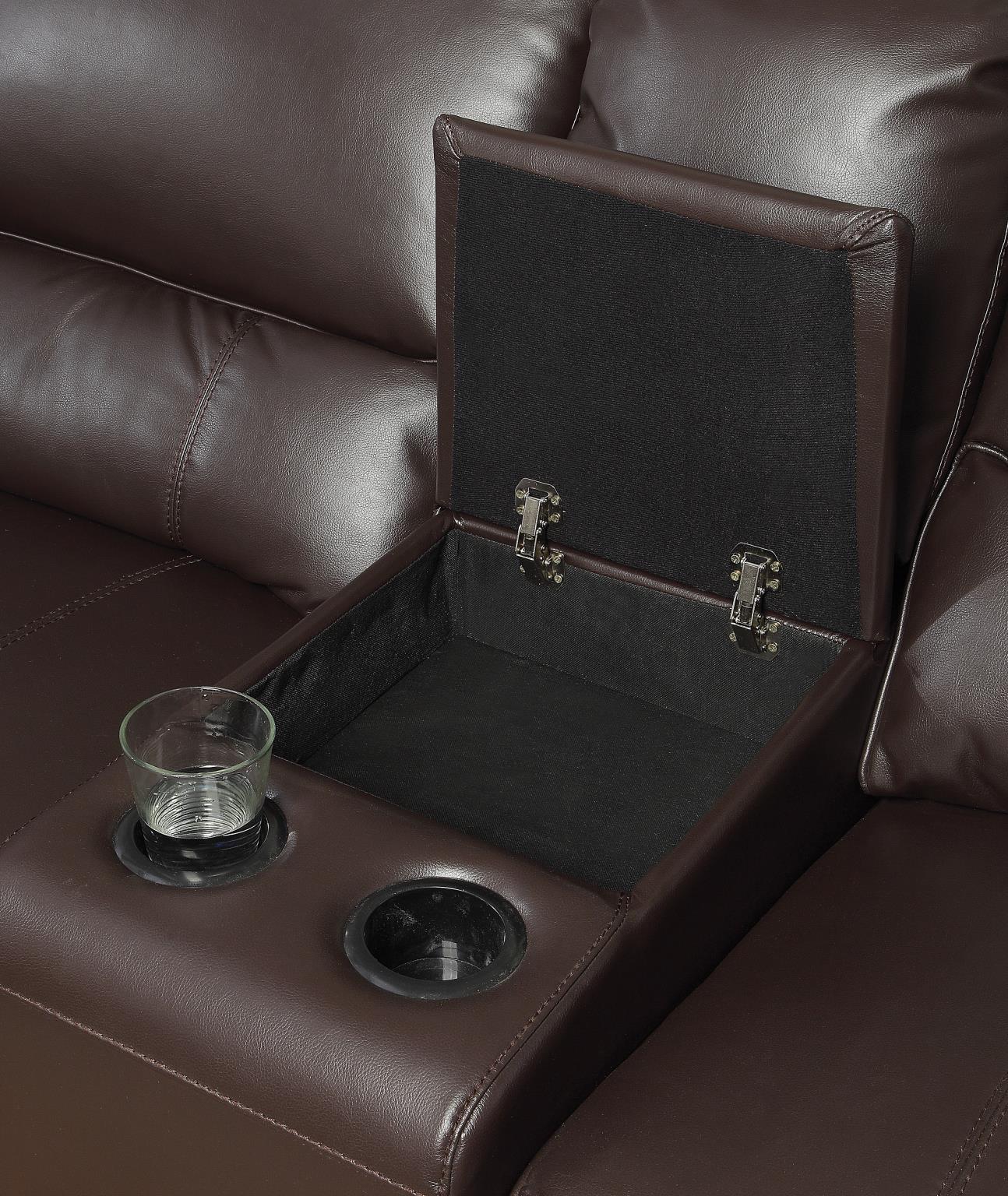 Espresso Console w/ Cup Holders & Storage
