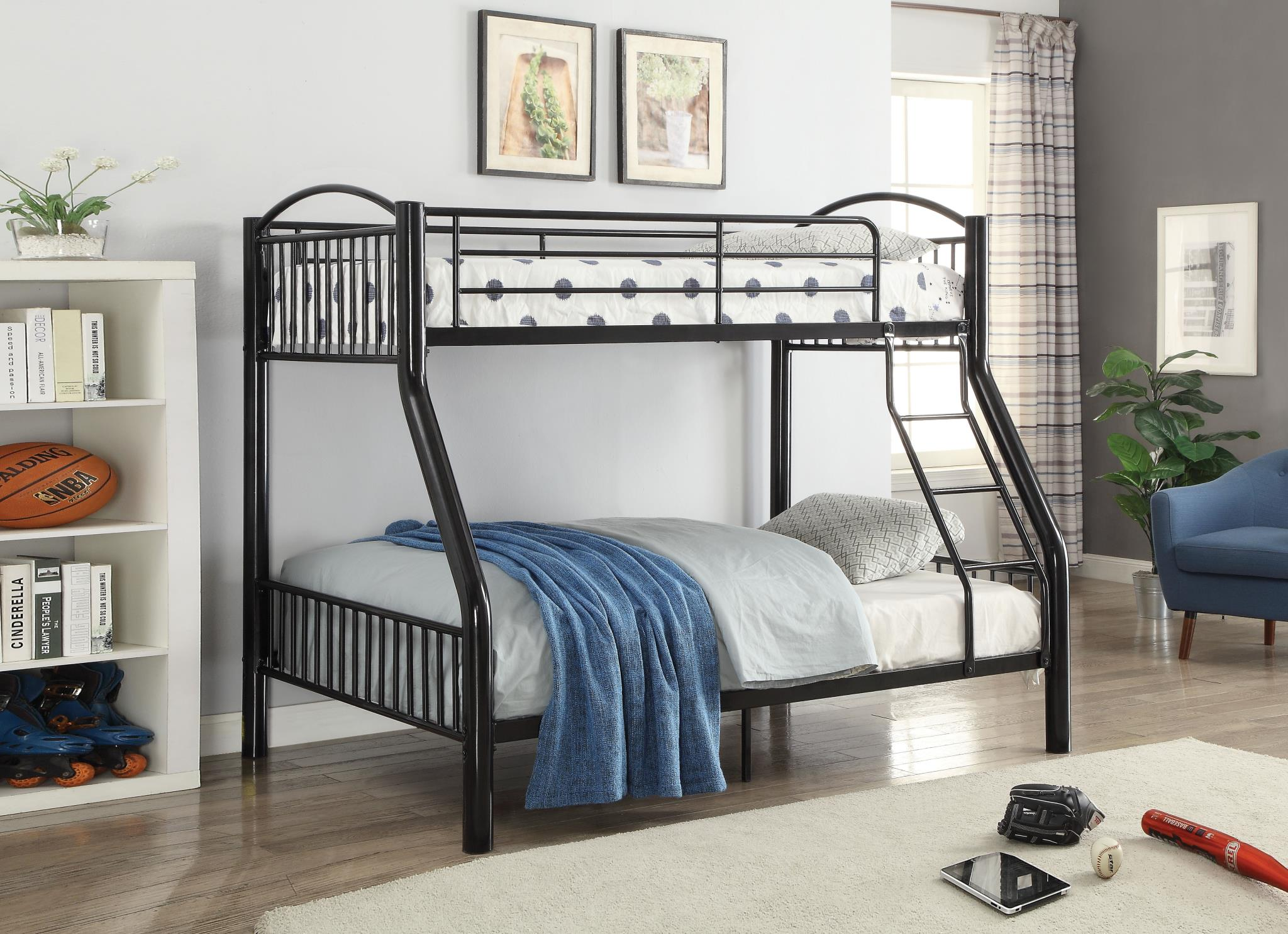 Black Twin/Full Bunk Bed