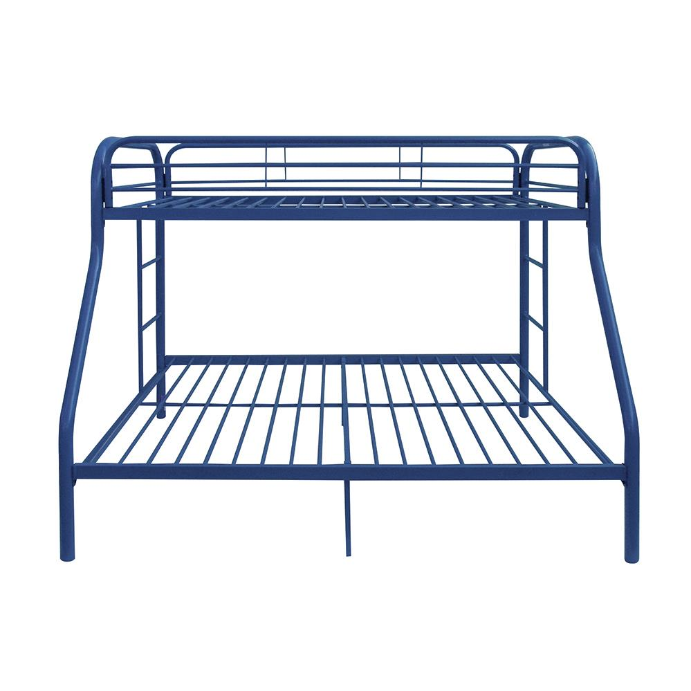 Blue Twin/Full Bunk Bed Front