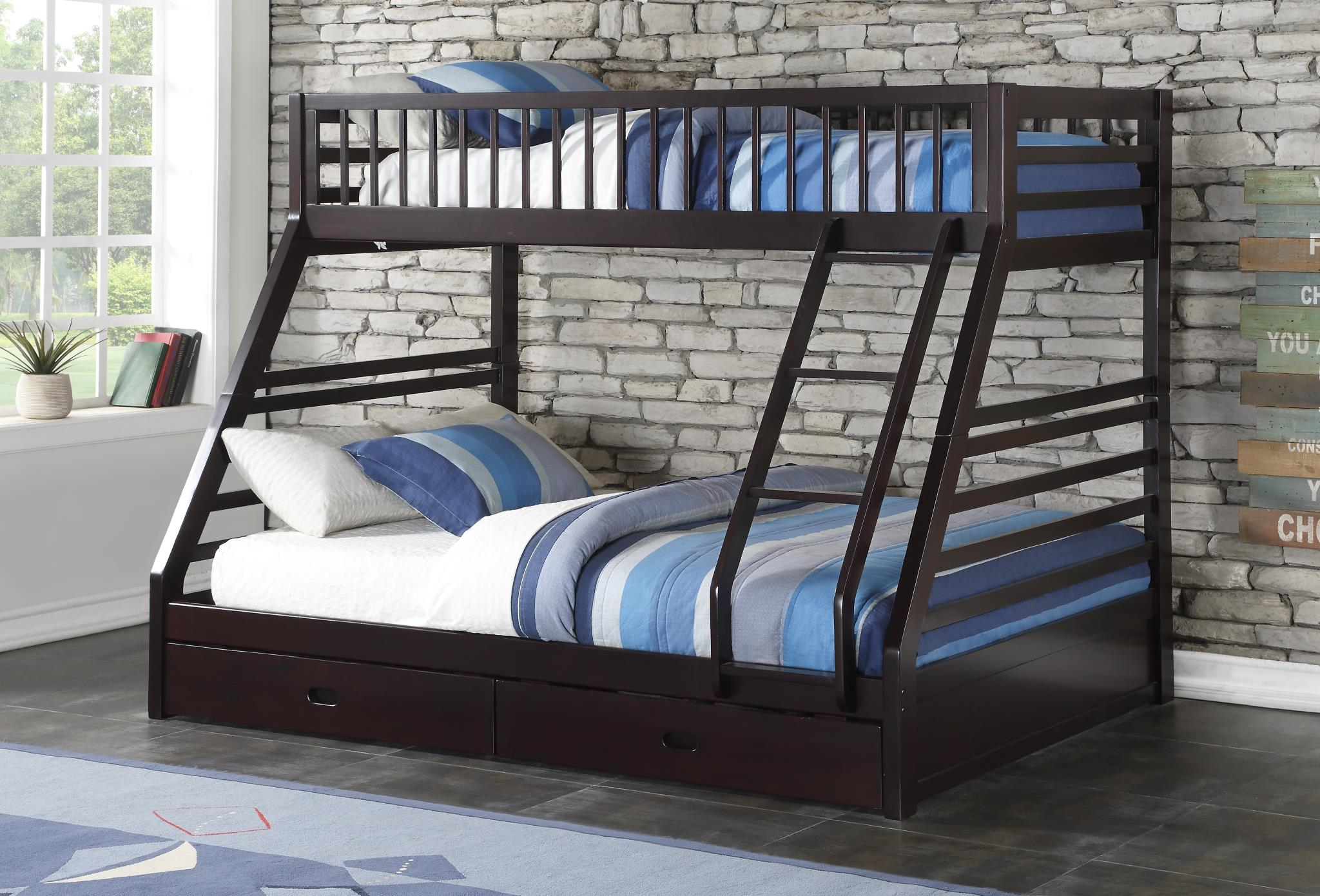 Picture of: Jason Twin Xl Over Queen Storage Bunk Bed