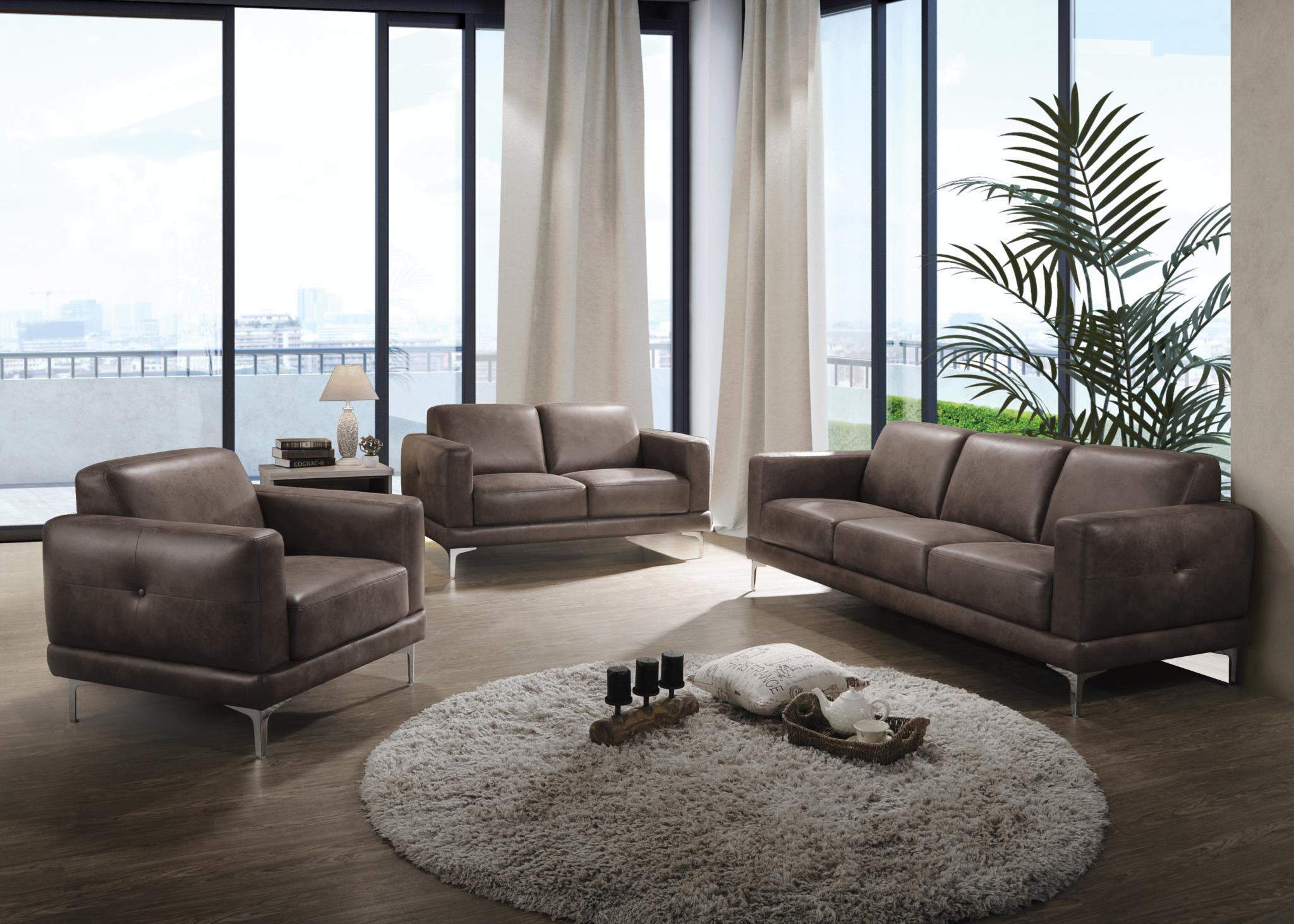 Brown Stone Complete Sofa Set