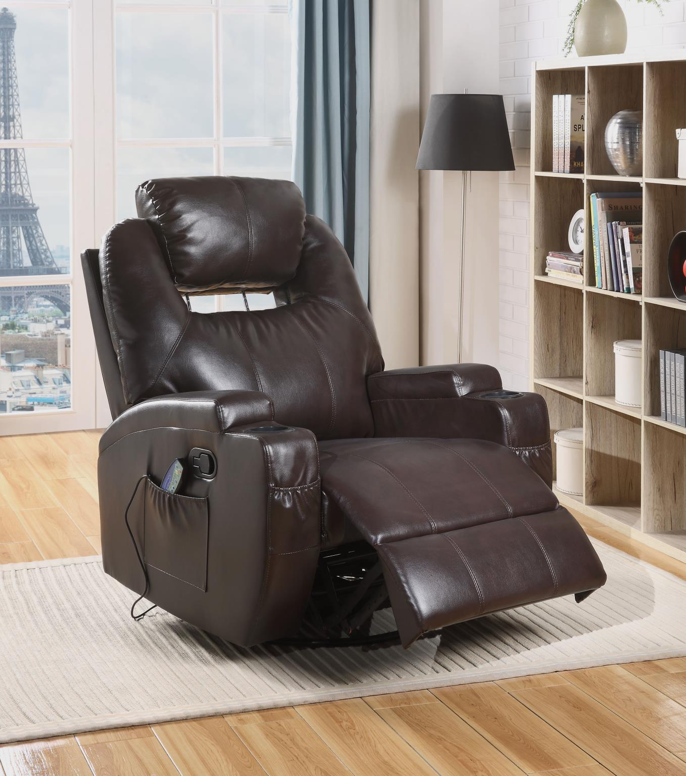 Brown Recliner w/ Power Headrest