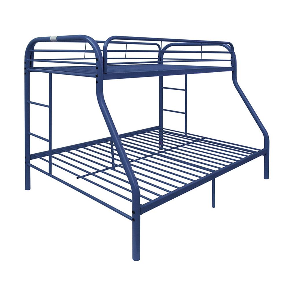 Blue Twin/Full Bunk Bed Angle