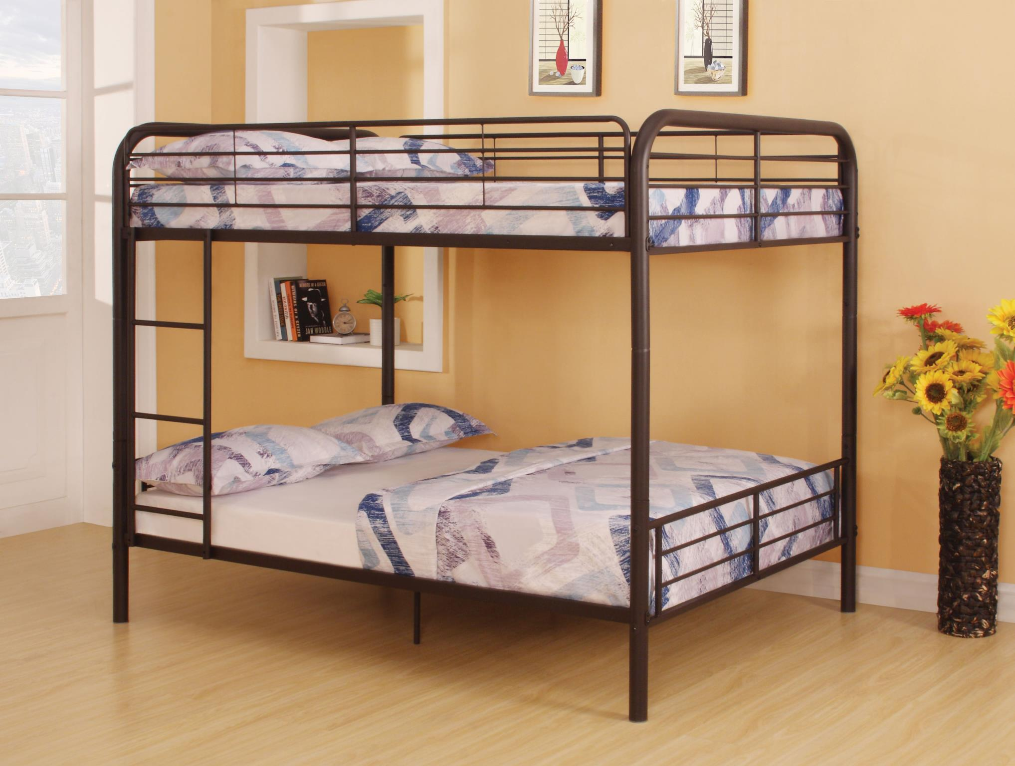 Dark Brown Full/Full Bunk Bed